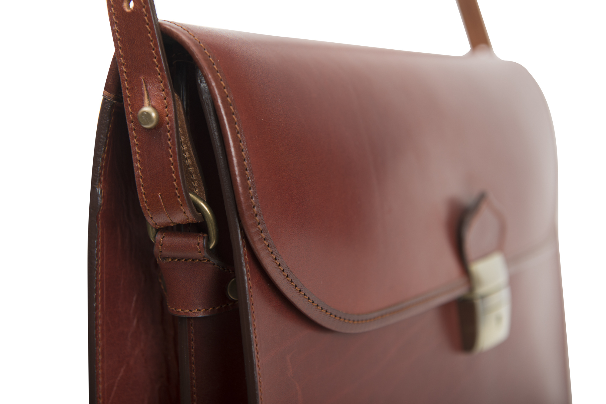 Porta folios 2 fuelles cierre tupi. Código: 13595., Briefcase leather. Guarnicioneria Lopez. Sevil